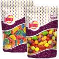 Lalees Petite fruit & Mini Fruit Slices - 2 Pounds- Fruit Shaped Candies - Gourmet Sweets - Bulk Unwrapped Candy