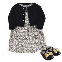 Little Treasure Baby Girl Dress, Cardigan and Shoes