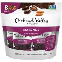 ORCHARD VALLEY HARVEST Dark Chocolate Almonds, 1 oz (Pack of 8)