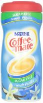 COFFEE MATE Sugar Free French Vanilla Powder Coffee Creamer 10.2 oz. Canister