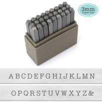 ImpressArt Typewriter Font Metal Letter Stamps, 3mm Uppercase Steel Alphabet Punch Set