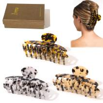 Hair Claw Clips for Women - Banana No Slip Grip Jaw Clip Leopard Cheetah Print Accessories for Girls Fashion Large Cute Hairclips for Thick Long Curly Hair Clamps Gifts for Women with Care Package