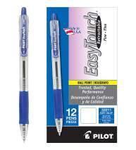 PILOT EasyTouch Refillable & Retractable Ballpoint Pens, Fine Point, Blue Ink, 12 Count (32211)