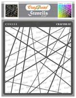 CrafTreat Geometric Stencils for Painting on Wood, Wall, Tile, Canvas, Paper, Fabric and Floor - Asymmetrical Lines Stencil - 6x6 Inches - Reusable DIY Art and Craft Stencils