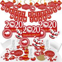 Big Dot of Happiness Chinese New Year - 2020 Year of the Rat Party Supplies - Banner Decoration Kit - Fundle Bundle