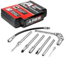 ARES 71045 | 8-Piece Grease Gun Accessory Set | for Use with All Types of Grease Lubrication Applications Construction with Working Pressure of 4500 PSI | Storage Case Included