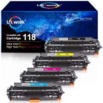 Uniwork Remanufactured Toner Cartridge Replacement for Canon 118 CRG-118 for Imageclass MF726Cdw MF8580Cdw MF8380Cdw MF8350Cdn LBP7660Cdn Printer (Black, Cyan, Magenta, Yellow), Canon 118 Toner
