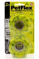 "Pet Flex Self-Adhering Elastic Bandage - No Chew 2-CT 2"" x 5 yds, Bitter Yellow Bandage/Green No Chew Print, Model Number: R2202NC-048"