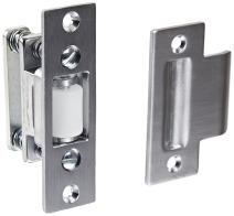 """Rockwood 592.26D Brass Roller Latch with #161 Strike, 1"""" Width x 3-3/8"""" Length, 1-1/8"""" Strike Width x 2-3/4"""" Strike Length, Satin Chrome Plated Finish"""