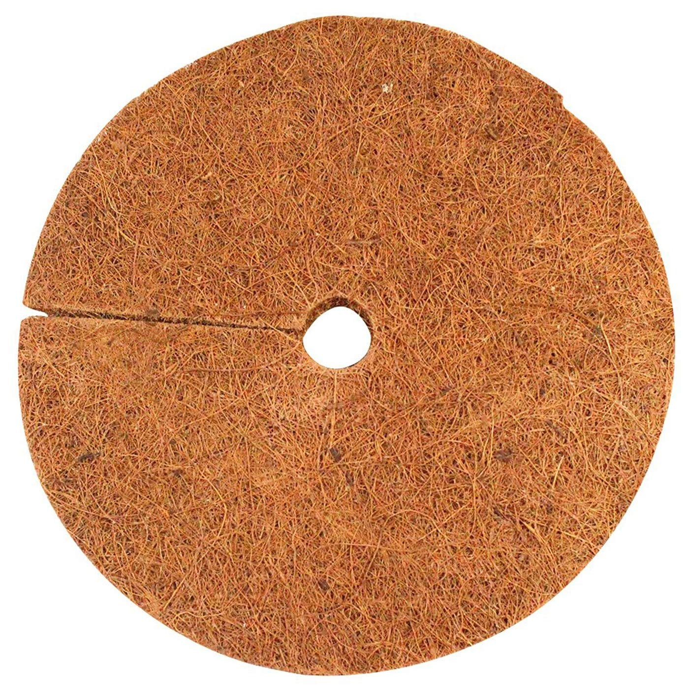 """Envelor Home and Garden Coco Coir Fiber Tree Rings for Weed Control, Plant Cover, Coco Liner Mulch Mat (4"""" Dia Pack of 20)"""