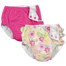 i Play. Baby Girls Cloth Reusable Swim Diaper - 2 Pack