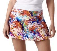 Queen of the Court Splatter Paint Performance Athletic Skirt   Tennis   Training   Running   Pickle Ball Skort
