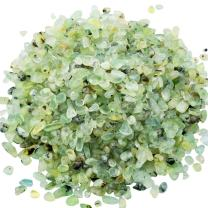 rockcloud 1 lb Prehnite Small Tumbled Chips Crushed Stone Healing Reiki Crystal Jewelry Making Home Decoration