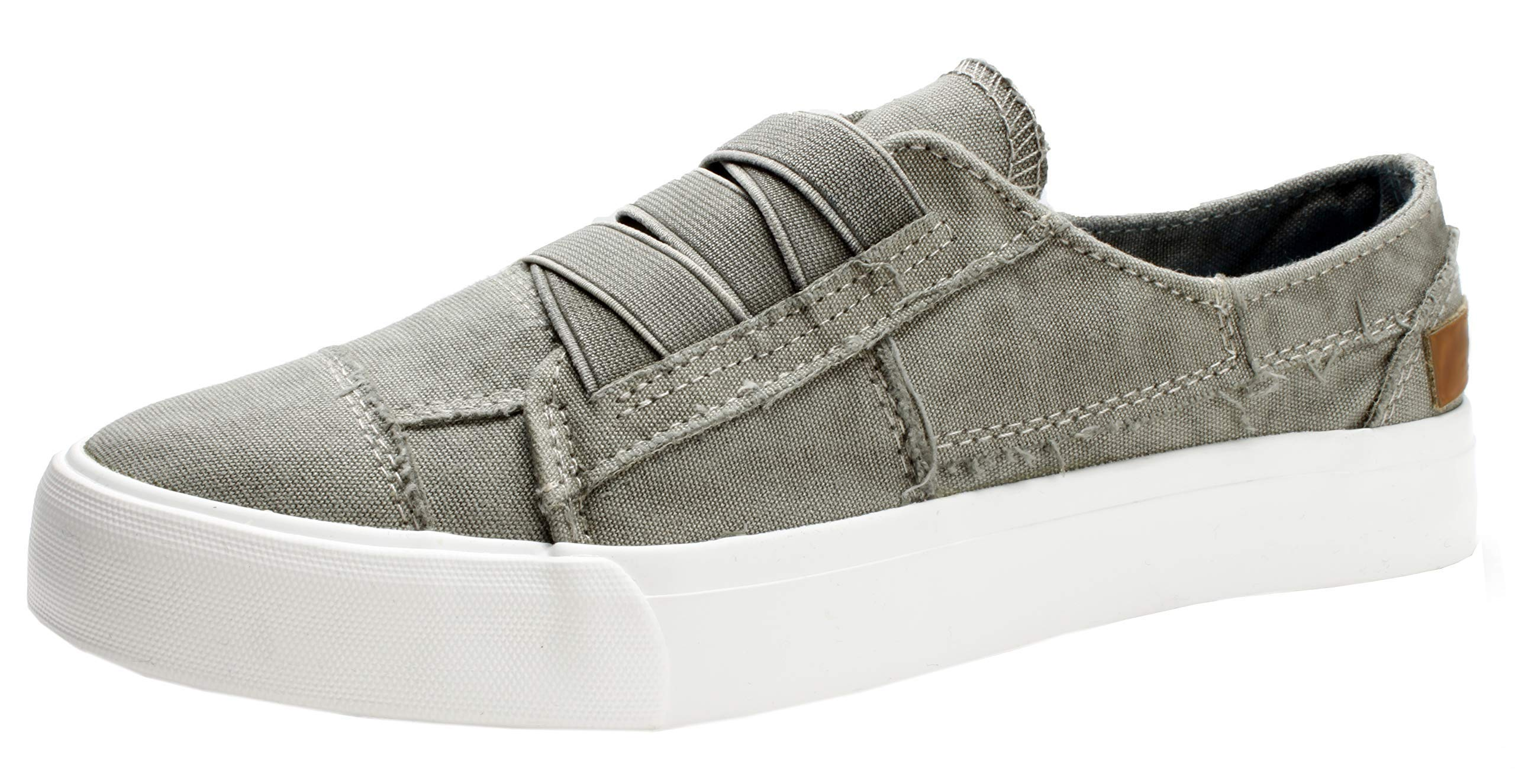 FIRENGOLI Women's Casual Slip On Sneakers Low Top Canvas Shoes Fashion Comfortable Flat Shoes