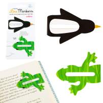 Line Markers Novelty Fun Magnetic Bookmark Page Holder Book Lover Reading Gift – Critters