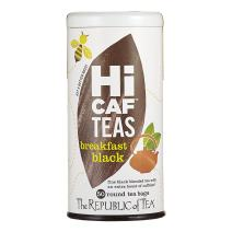 The Republic of Tea HiCAF Breakfast Black Tea, 50 Tea Bags, Roasted Chicory High-Caffeine Gourmet Blend