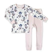 Finn + Emma Organic Cotton Toddler Pajama Sleep Set – Mermaids, 12-18 Months