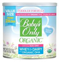 Baby's Only Whey & Dairy Protein with DHA Toddler Formula, 27.5 Oz (Pack of 1) | Non GMO | USDA Organic | Clean Label Project Verified | Tummy Gentle | Value Size