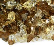Dakota - Fire Glass Blend for Indoor and Outdoor Fire Pits or Fireplaces | 10 Pounds | 1/4 Inch