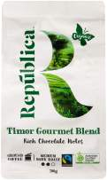 Republica Organic Ground Coffee, Timor - Certified Organic, Fair Trade, Premium, Gourmet, Medium Dark Roast Coffee for Drip, French Press, or Espresso (300g/10.6oz bag)