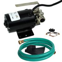 """Watershed Innovations 320GPH HydraPump Mini-115V 1/10th hp 330 GPH Portable Transfer Water Pump with Metal Connectors for Standard 3/4"""" Garden Hose"""
