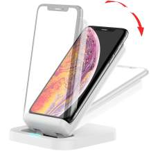 BEACOO Wireless Charger, Adjustable Wireless Charging Stand 7.5W Compatible iPhone Xs MAX/XR/XS/X/8/New AirPods, 10W Compatible Galaxy S10/S10 Plus/S10E/S9(No AC Adapter, 3.9ft Type-C Cable Included)