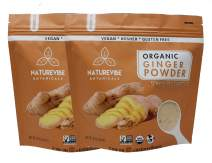 Naturevibe Botanicals Organic Ginger Root Powder-2 lbs (2 pack of 1lbs each), Zingiber officinale Roscoe   Non-GMO verified, Gluten Free and Keto Friendly [Packaging may Vary]