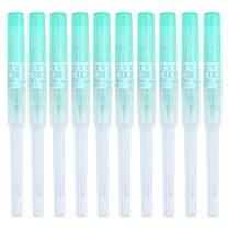 Aokbean 50 pcs Body Piercing Needles IV Catheter Needles Gauge 18G for Ear Nose Lip Disposable Professional Piercing Needles Tattoo Tools (18G)