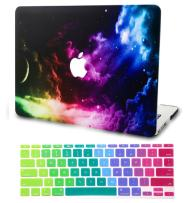 """KECC Laptop Case for Old MacBook Pro 15"""" Retina (-2015) w/Keyboard Cover Plastic Hard Shell Case A1398 2 in 1 Bundle (Colorful Space)"""
