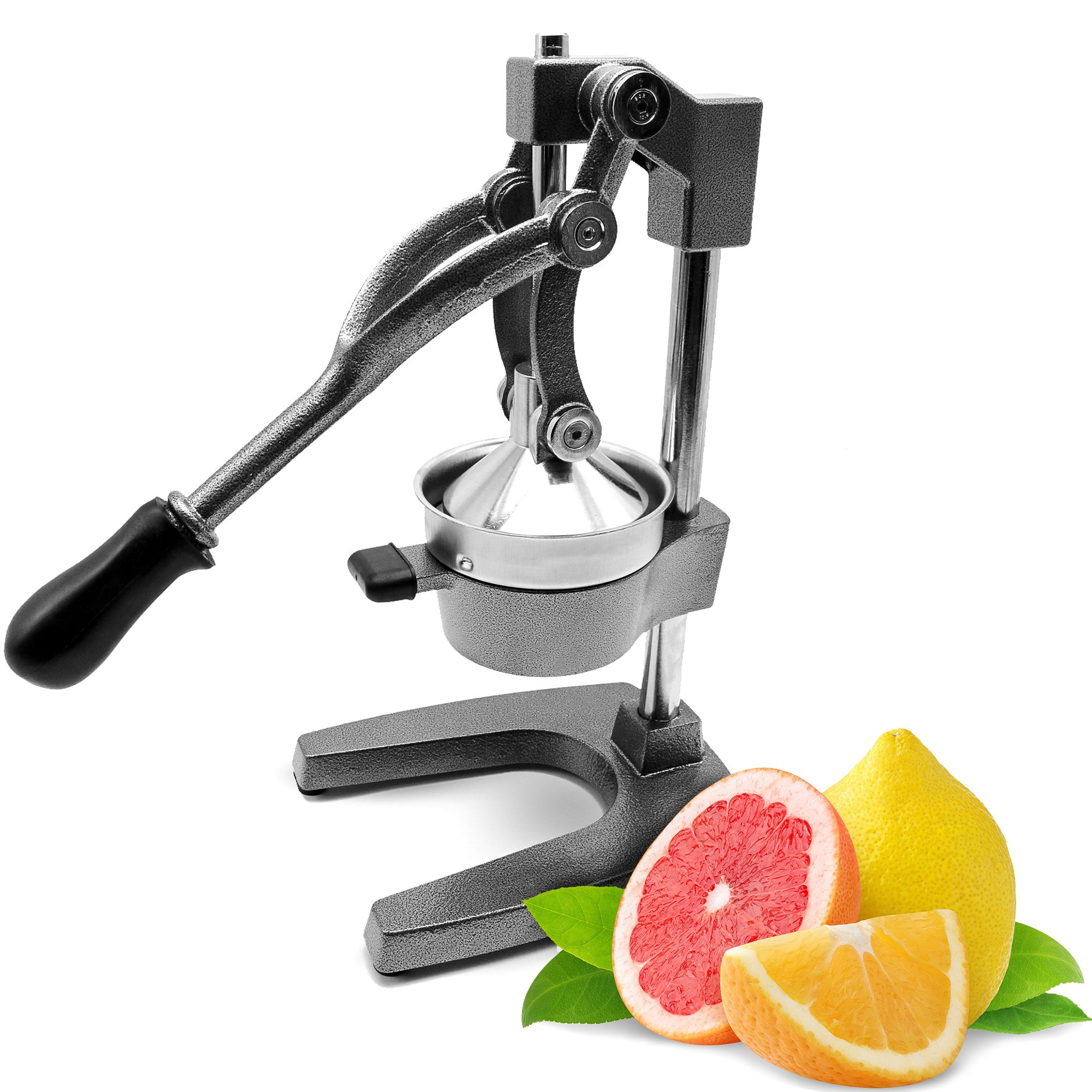 Commercial Manual Orange Juicer Citrus Press And Lemon Squeezer - Premium Quality Heavy Duty Best For Pomegranate Grapefruit Lime- By Experts Of KP Industry (Gray)