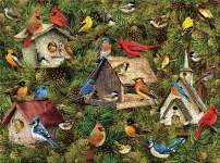 Jigsaw Puzzles for Adults, 1000 Pieces DIY Gift Puzzle Toys for Relieve Stress- Birds and Wooden House