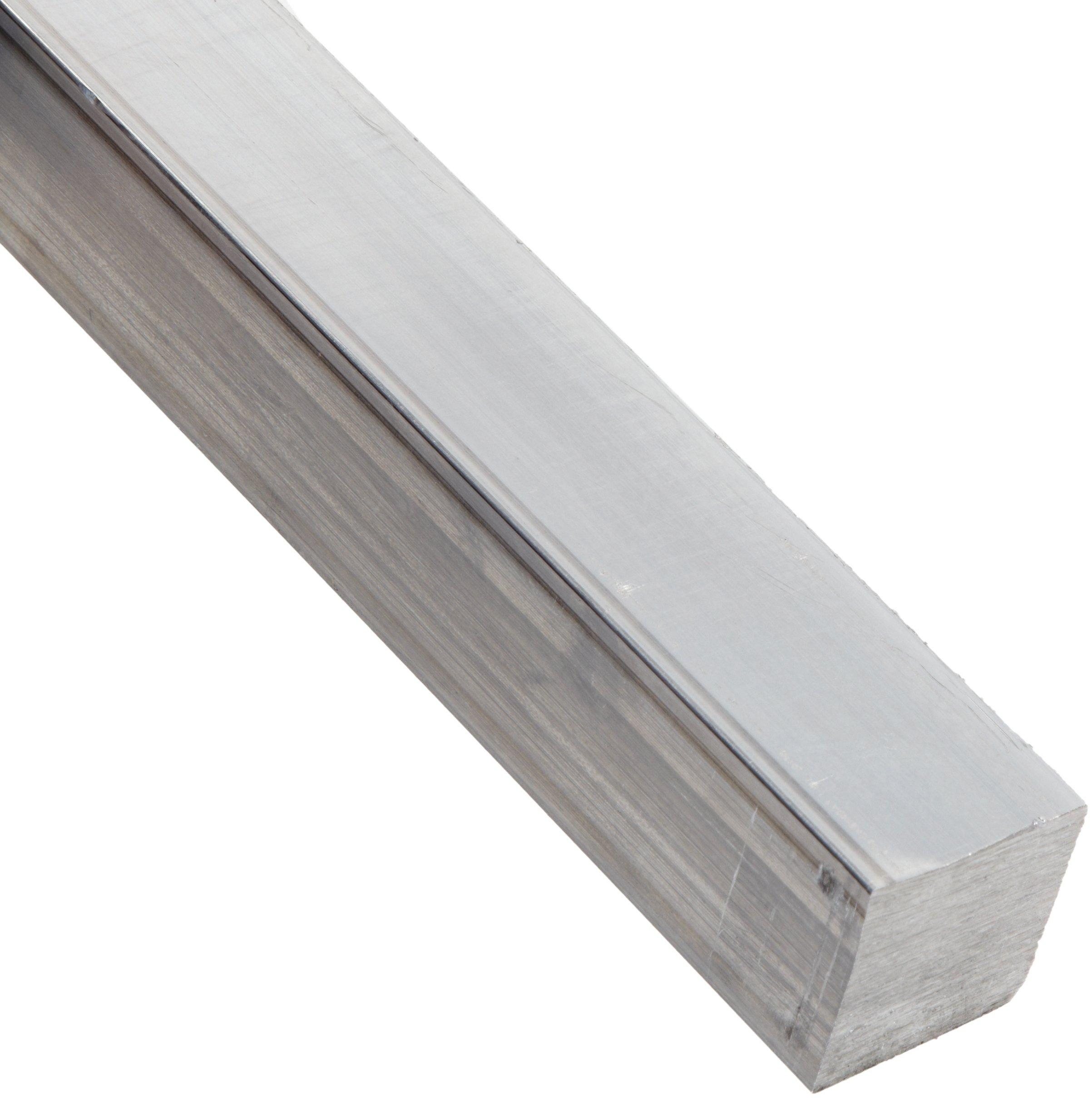 "6063 Aluminum Rectangular Bar, Unpolished (Mill) Finish, T52 Temper, AMS QQ-A-200/9/ASTM B221, 1/8"" Thickness, 1/2"" Width, 72"" Length"