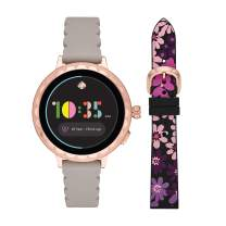 Kate Spade New York Women's Scallop Sport Metal and Silicone Touchscreen Smartwatch with Heart Rate, GPS, NFC, and Smartphone Notifications