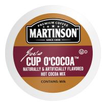 Martinson Single Serve Coffee Capsules, Hot Cocoa, Compatible with Keurig K-Cup Brewers, 24 Count (816932008904)