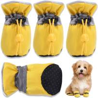 HOOLAVA Dog Shoes, Dog Boots Paw Protector with Reflective Straps, Non Slip Dog Booties for Small Medium Large Dogs and Puppies