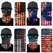 Rejolly Magic Face Mask American Flag 3D Seamless Bandanas Multi Functional Headband for Outdoor Sports