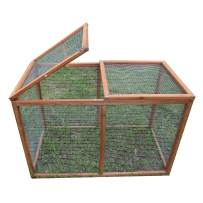 "GOJOOASIS 40"" Outdoor Wooden Chicken Coop Hen House Poultry Cage w/Wire Fence Indoor and Outdoor Use (B)"