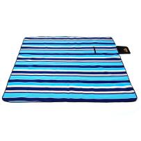 Hewolf Extra Large Picnic Blanket - Waterproof 79×79 Picnic Mat Folding Portable Tote for Family Concert Outdoor