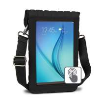 """USA Gear 7 Inch Tablet Case Sleeve Cover w/Built-in Screen Protector & Carry Strap (Black) Fits Galaxy Tab E Lite 7"""", RCA Voyager 7"""", Supersonic 7"""", BLU Touchbook M7 Pro, More 7in Tablets"""
