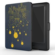 MoKo Case for Kindle E-reader (8th Generation 2016) - The Thinnest and Lightest  Cover with Auto Wake/Sleep for Amazon Kindle (6 Display, 8th Gen 2016 Release), City Night View