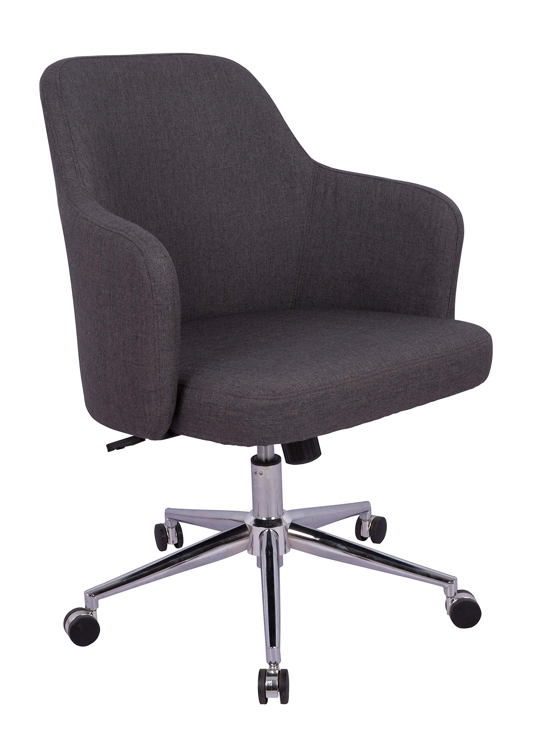 AmazonBasics Classic, Adjustable, Swivel Office Desk Chair with Casters and Twill Fabric, Charcoal
