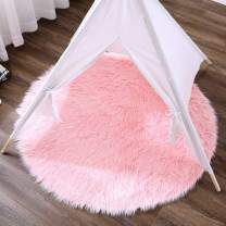OJIA Deluxe Soft Fuzzy Fur Rugs Faux Sheepskin Shaggy Area Rugs Fluffy Modern Kids Carpet for Living Room Bedroom Sofa Bedside Decor (3ft, Pink)