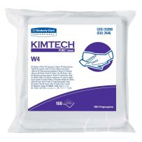 """Kimtech Pure W4 Dry Wipers (33390), with Anti-Stat Resealable Double-Bag Pouch, 9"""" x 9"""", White, 500 Wipes / Case, 5 Packs of 100 Wipes"""
