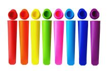 Mirenlife Silicone Ice Pop Molds,Popsicle Maker Molds,8 Vibrant Colors,Set of 8