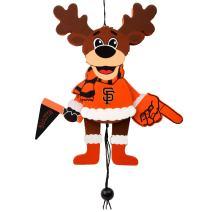 FOCO MLB San Francisco Giants Cheering Reindeer Ornament