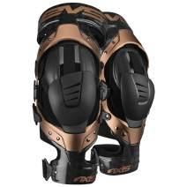 EVS Sports Unisex-Adult Axis Pro Knee Brace - Pair (Black/Copper, Medium, 2 Pack