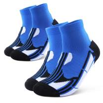 Athletic Socks,Running Socks Mens Ankle Socks Women Socks Men Pack Low Cut,Cool Max Tech Moisture-Wicking Anti-Odor(2Pairs)