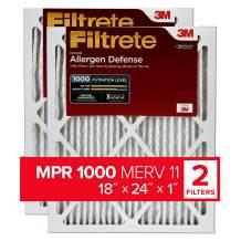 Filtrete 18x24x1, AC Furnace Air Filter, MPR 1000, Micro Allergen Defense, 2-Pack