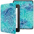 VORI Case for All-New Kindle Paperwhite (10th Generation, 2018 Release), Water-Safe Protective Soft TPU Smart Cover with Auto Sleep/Wake for Amazon Kindle Paperwhite 2018 EReader, Abstract Floral