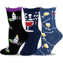 TeeHee Women's Foods Crew Socks 3-Pack